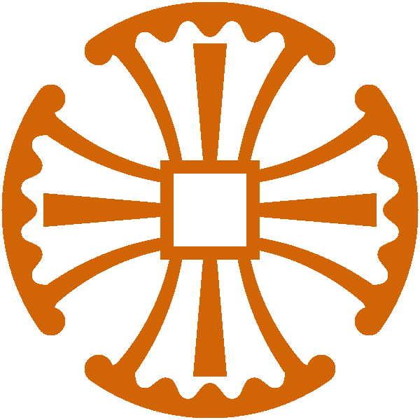 Orange Canterbury Cross